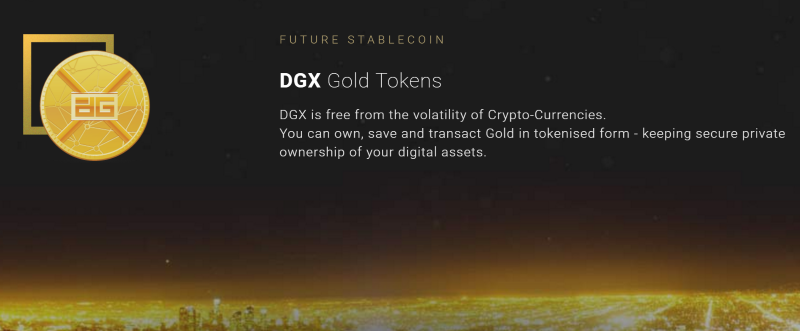 DGX Gold Tokens