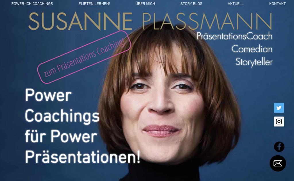 Susanne Plassmann Power Präsentationen PräsentationsCoach Comedian Storyteller