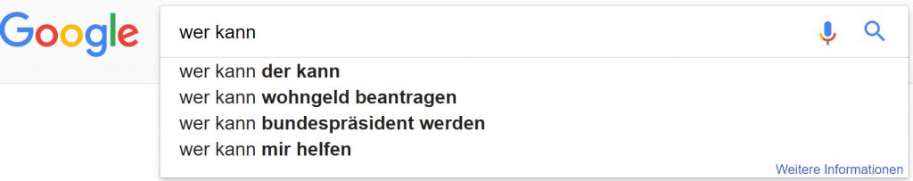 google suchzeile 1 wer kann