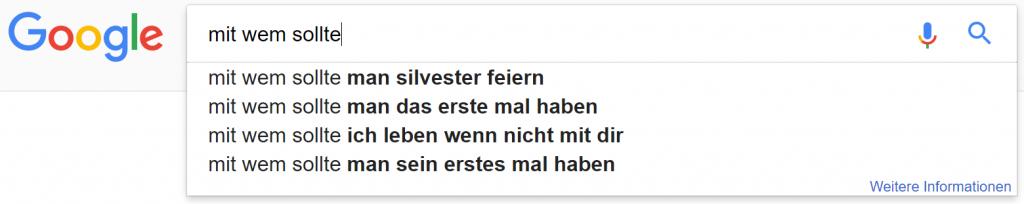 google suchzeile 3 mit wem sollte ich