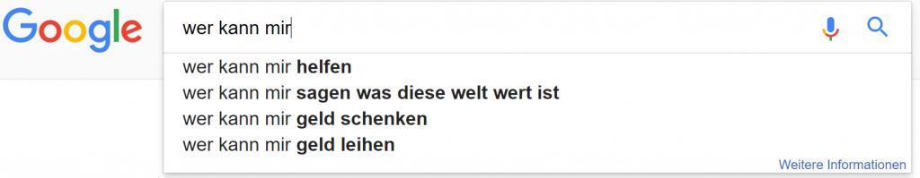 google suchzeile 4 wer kann mir