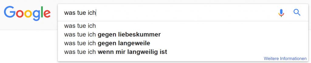 google suchzeile 5 was tue ich