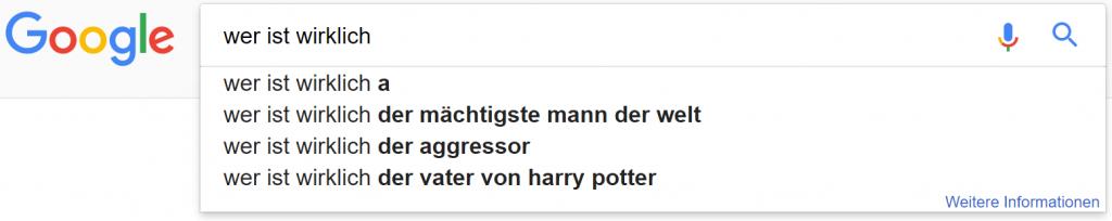 google suchzeile 7 wer ist wirklich