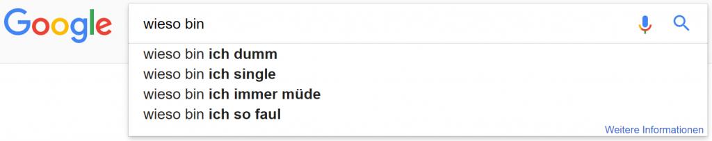 google suchzeile 9 wieso bin ich