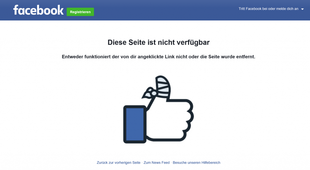 facebook account gelöscht probe aufs exempel