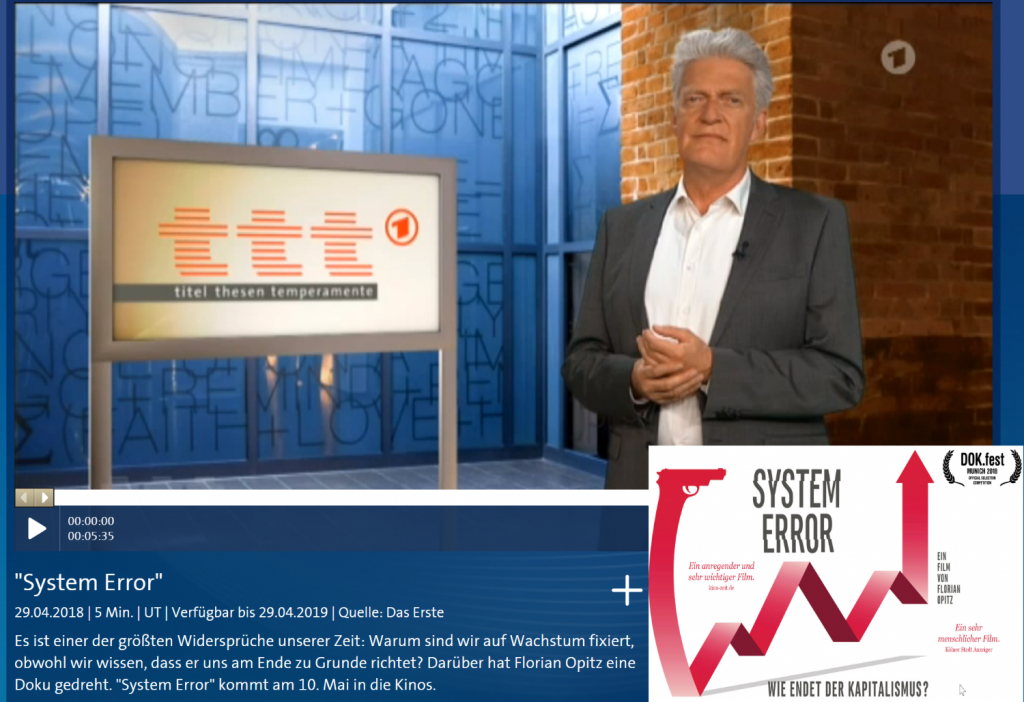 System Error ttt titel thesen temperamente Video ARD Mediathek