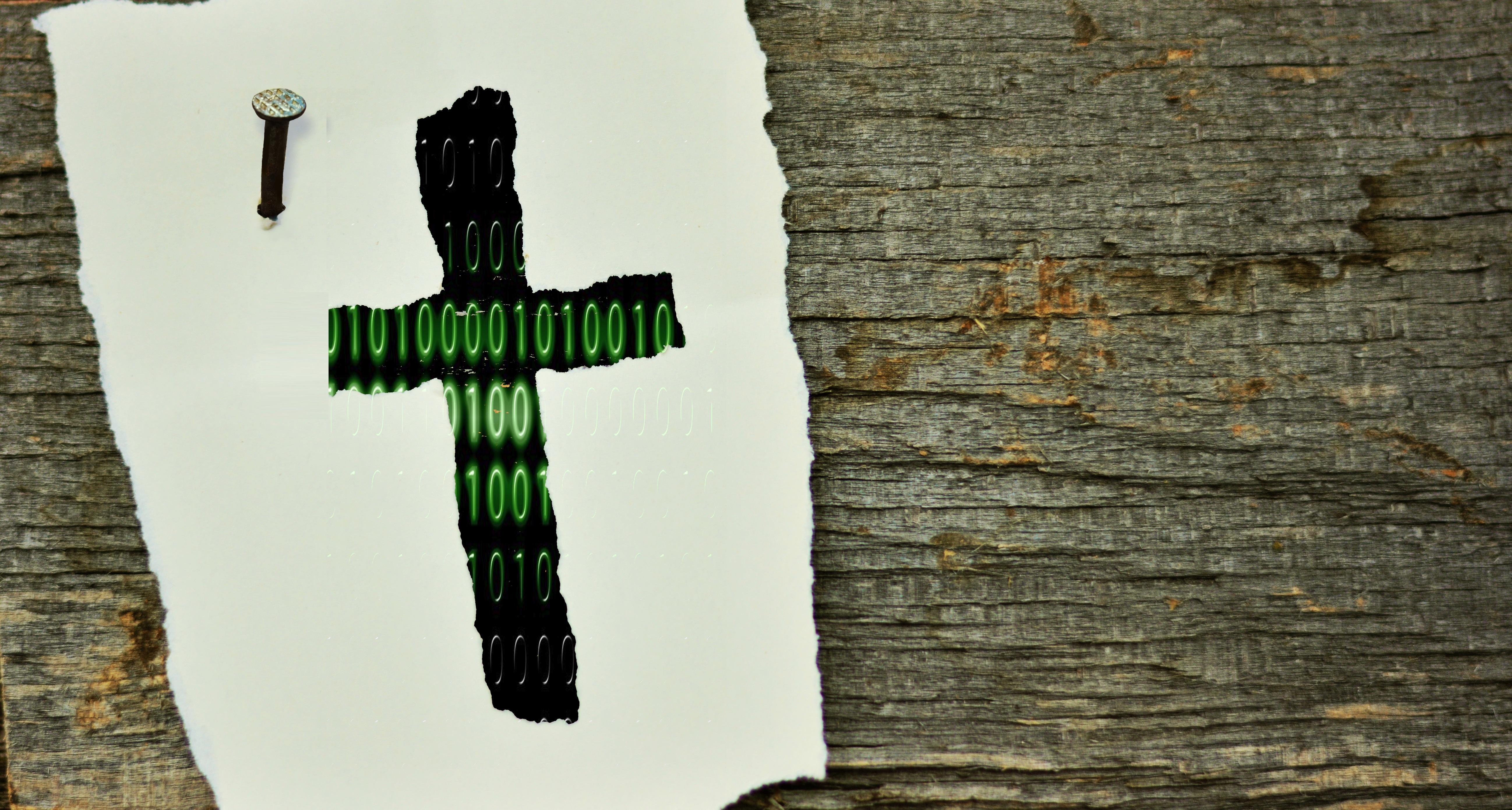 Technodizee vom Kreuz der Zukunft durch Technologie
